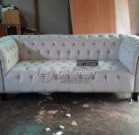Sofa Tamu Model Chesterfield Classic Cream