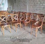 Kursi Cafe Jati Sandaran Silang Crossback