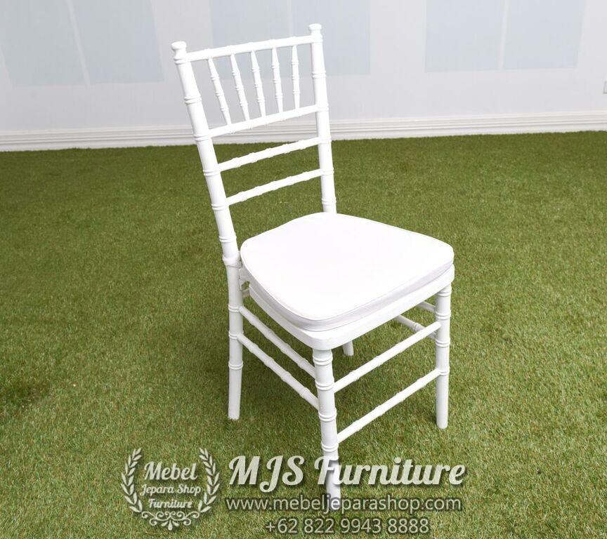 kursi tiffany putih jepara