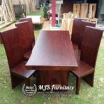 Meja Kayu Trembesi Finishing Dark Doff