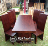 jual meja kayu trembesi finishing dark doff
