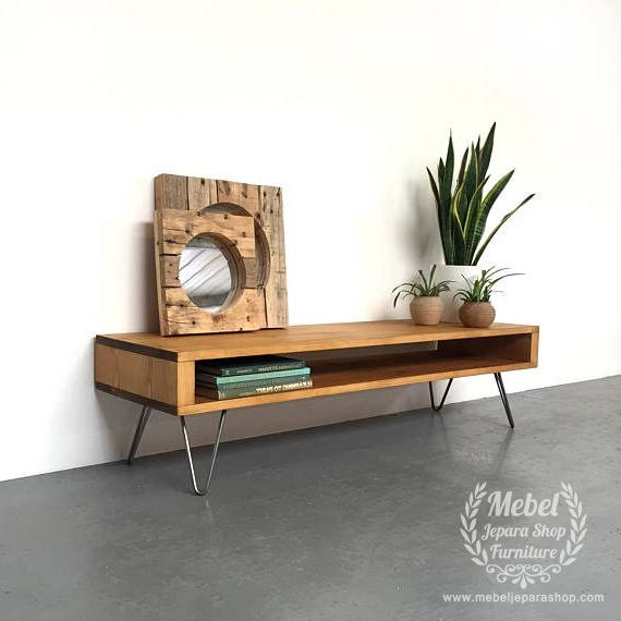 TV stand industrial kaki hairpin