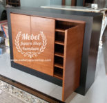 Buffet Cabinet Storage Minimalis Jati