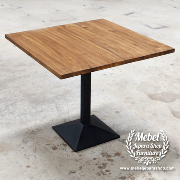 Meja cafe industrial kaki besi minimalis