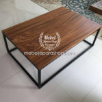 Coffee Table Kayu Trembesi Simple