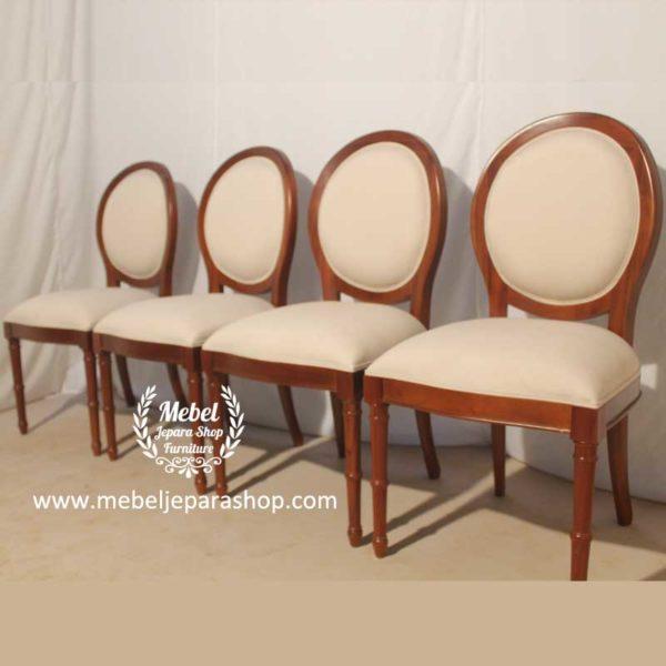 kursi makan classic minimalis sandaran bundar