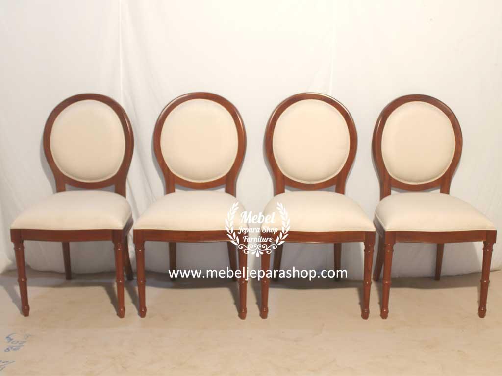kursi makan classic minimalis sandaran oval