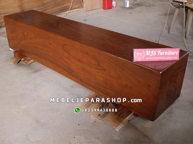 bangku kayu log balok jepara
