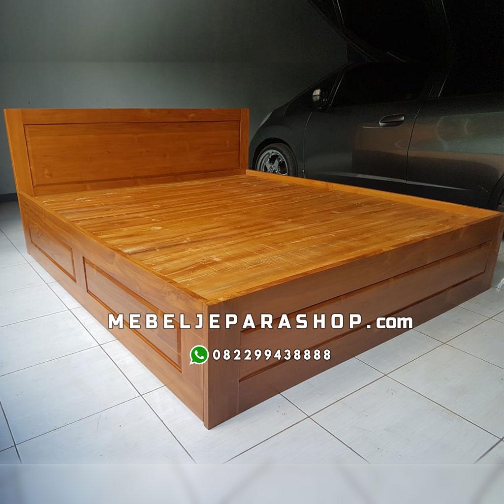 tempat tidur jati minimalis jepara