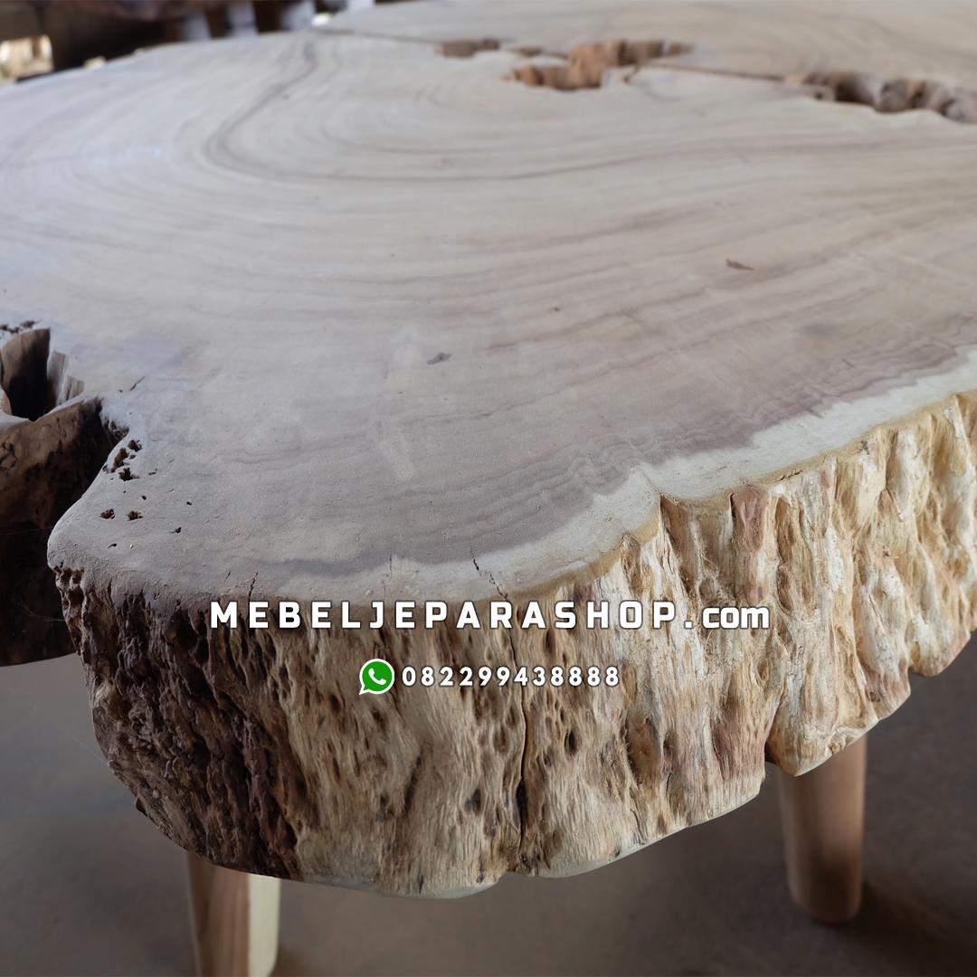 meja antik erosi kayu alami