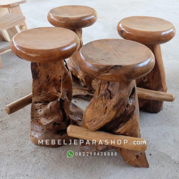 bangku stool kayu antik jepara