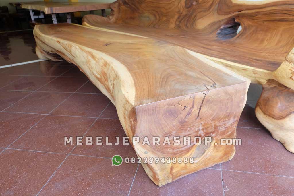 meja kayu utuh besar log