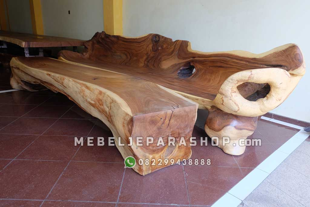bangku kayu utuh bsar erosi alami