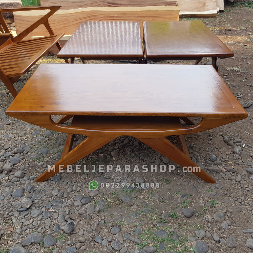 coffee table unik jati jepara
