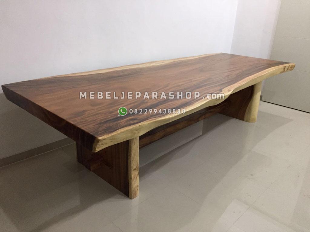 jual meja kayu suar besar 4 meter