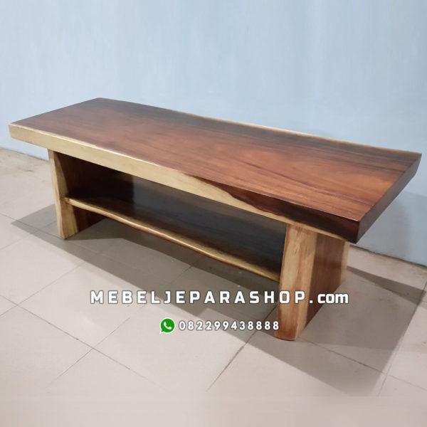 meja konsul kayu solid trembesi