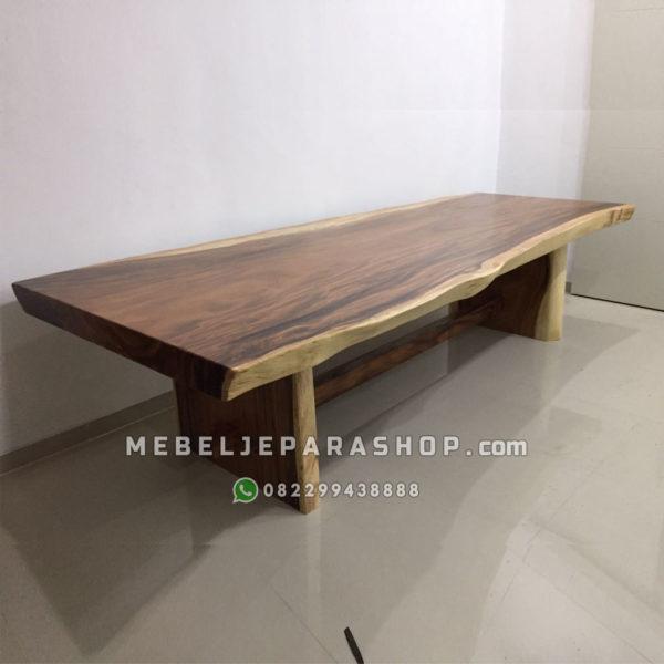 meja trembesi besar panjang 4 meter