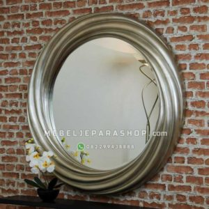 Cermin Hias Figura Frame Bundar Silver