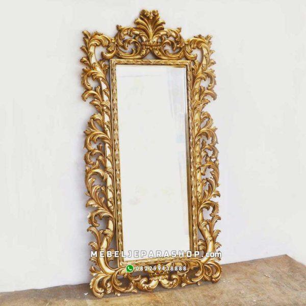 frame pigura ukir mewah Jepara emas