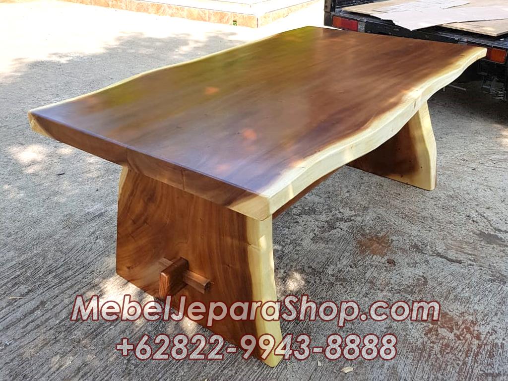 meja suar kayu trembesi utuh murah