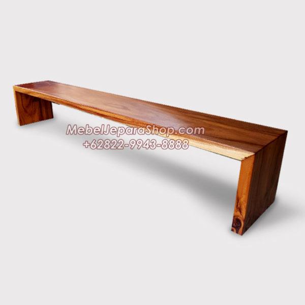 Bangku kayu panjang kotak trembesi