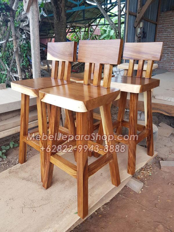 model kursi kayu bar cafe