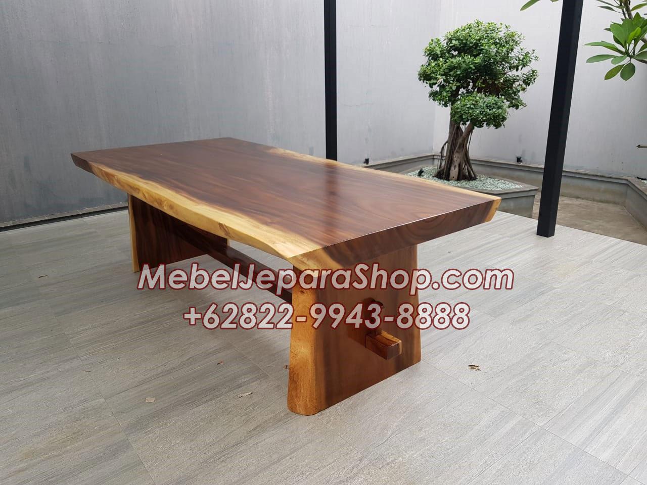 Meja Trembesi pendek kecil murah - Meja-Trembesi-pendek-kecil-murah