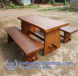 Set Meja dan Bangku Kayu Trembesi