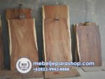 Top Table Papan Daun Meja Kayu Solid Trembesi