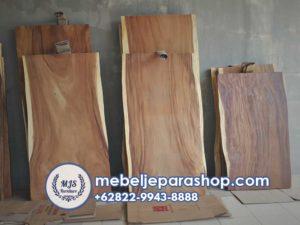papan daun meja kayu trembesi utuh