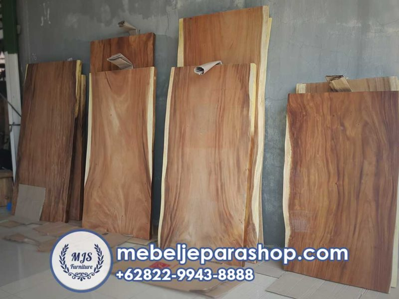 top table papan kayu trembesi solid
