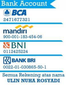rek bank 231x300 - Cara Pemesanan